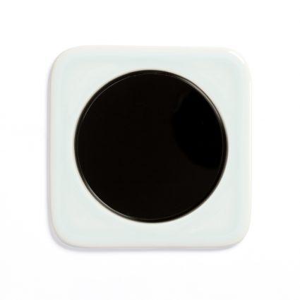 Image: Berker R.1 Ice Blue ceramics, single model + Berker R-series light switch