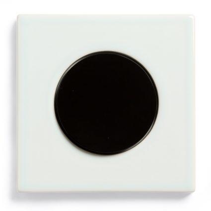 Image: Berker R.3 Ice Blue ceramics, single model + Berker R-series light switch